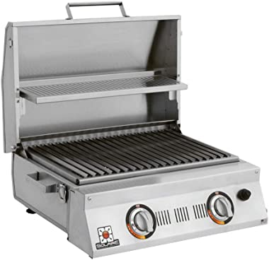 Solaire SOL-AA23A-LP Double Burner Tabletop Infrared Propane Gas Grill, Stainless Steel