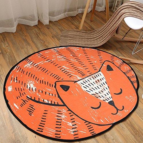 CKH kort fluweel comic rond tapijt voor kinderen, slaapkamer, woonkamer, mand, stoel, schattig tapijt, slaapkamer