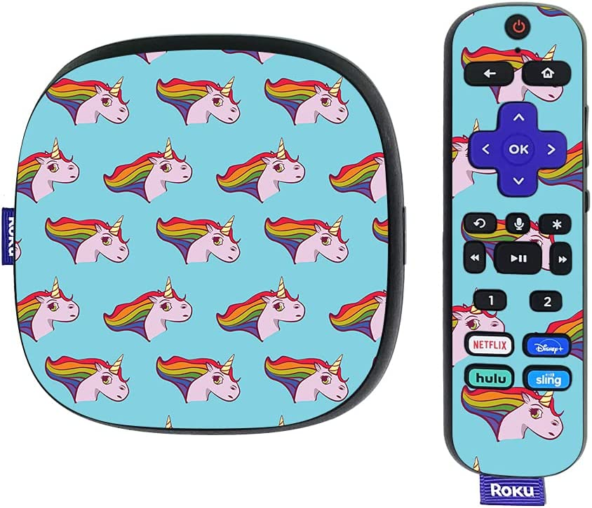 MightySkins Skin Compatible with Roku Ultra HDR 4K Streaming Media Player (2020) - Pretty Unicorn | Protective, Durable, and Unique Vinyl Decal wrap Cover | Easy to Apply | Made in The USA