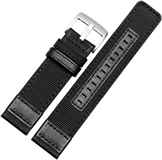 for Nylon Watchbands Men Sport NATO Strap 20mm 22mm 24mm Black Green Coffee Watch Band Belt Stainless Steel Buckle Clasp Accessories,Black Silver Buckle,20mm