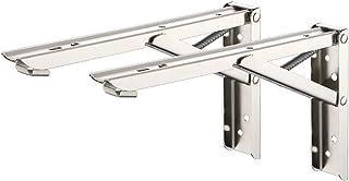 Stainless Steel Foldable Bracket Heavy Duty Triangle Shelf Bracket For DIY Space Saving Workbench Load-bearing Wall Shelf 2Pc