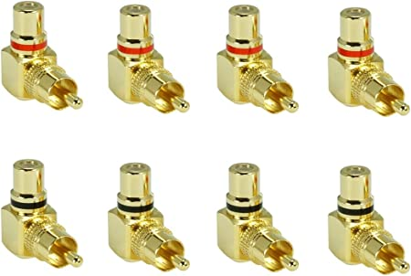 Sunshinetronic Premium Cinch Winkel Adapter Elektronik