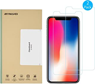 MYMAHDI iPhone X Screen Protector, 2 Pack Tempered Glass and 1 Camera Screen Protector Anti-Fingerprint High Light Penetra...