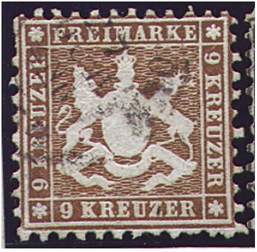 Goldhahn Württemberg Nr. 28 c gestempelt geprüft Briefmarken für Sammler