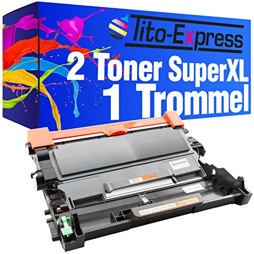 Tito-Express PlatinumSerie 2 Tóner Super-XL y 1 Tambor Compatible con Brother TN-2010 DR-2200 para DCP-7060D 7065DN 7070DW HL-2215 2230 2240 2240D 2250DN 2270DW MFC-7360N 7460DN 7470D 7860DN 7860DW