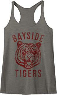 Saved by The Bell 80s Comedy Sitcom Bayside Tigers Womens Racerback Tank Top Tee