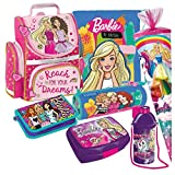 Barbie Schulranzen 7 Teile Set RANZEN FEDERMAPPE T