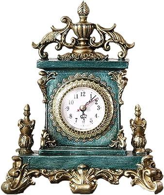 QXX Europa Retro Relojes Sala de Estar Dormitorio Porche Junto a la Mesa Americana Reloj Despertador