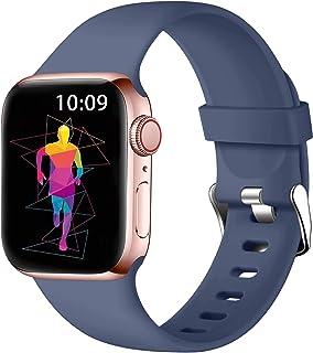 Wepro Pasek kompatybilny z Apple Watch 40 mm 38 mm dla kobiet/mężczyzn, miękki silikon regulowany klasyczny zamienny pasek...