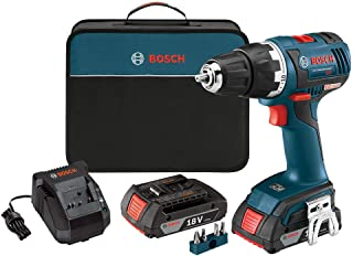 Bosch DDS182-02-RT 18V Cordless Lithium-Ion 1/2 in. Brushless Compact Tough Drill Driver Kit (Renewed)