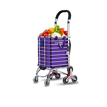 Shopping Cart Shopping Cart Little Pull The Car Climb Stairs To Fold Household Portable Carts Trolley Trailer Eight Wheel Reinforcement Cart
