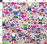 Zwerg, Garten, Frühling, Sommer, Flamingo, Rasen, Blumen