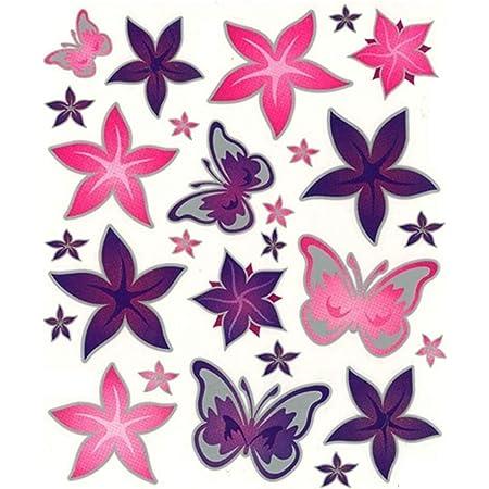 Fahrrad Rahmenaufkleber Rahmensticker Aufkleber Schmetterlinge Blumen Sport Freizeit
