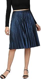 Label RITU KUMAR Women's Frills Midi Skirt (SKRPJ-FOIL00N18251847_Blue_X-Small)