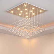 Chandelier Crystal Lamp/Ceiling Lamp, Modern Minimalist Crystal LED Lamp (Color : 40x40x70cm 3-Color LED)