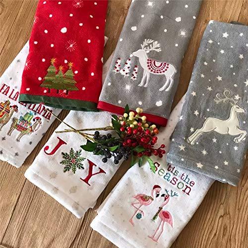 Badhanddoeken Kerst Handdoek Pure Katoen Huishoudelijke Borduurwerk Was Kussen Handdoek