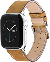 CHIMAERA Compatible Replacement for 38mm 40mm 42mm 44mm Apple Watch Band Leather Strap Series 5/4/3/2/1 Sports Edition