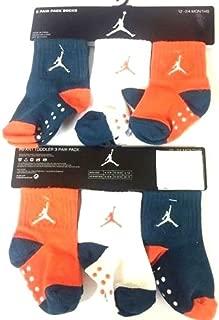 Nike Jordan Jumpman Baby Boy's Quarter Crew Socks 3 Pair 12-24M
