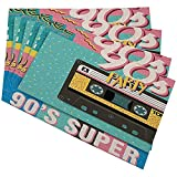 GuyIvan 90 'S Musik Mix Tischsets Pop Music Party 1990