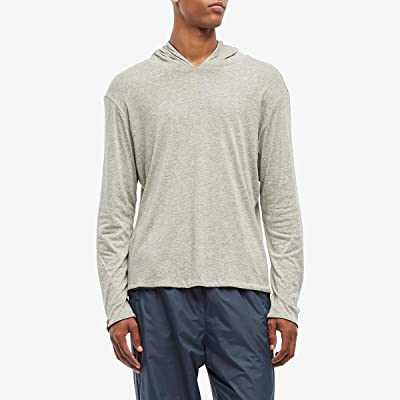 rag & bone Reverse Hoodie (Black/Heather Grey) Men