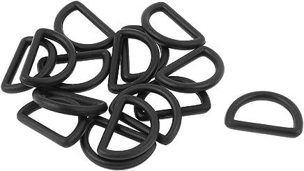 sourcing map 20stk Klickverschluss Gurtband Kunststoff Gebogene Haken Seitenfreigabe Schnalle 2,5cm Breite Schwarz