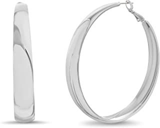 Steve Madden Flat Wide Hoop Earrings for Women
