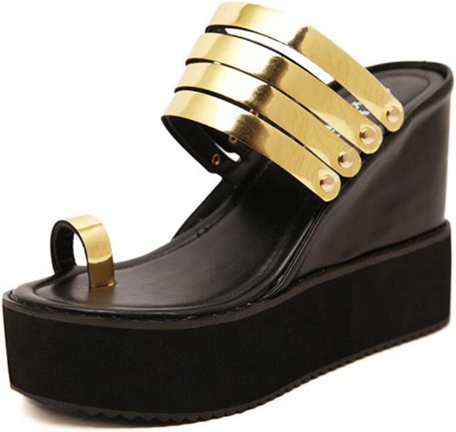 MODEOK Mens Sandals of Gladiator Style Leather Outdoor Sandals Fashion Casual Comfortable Sandals