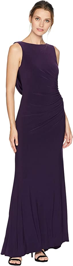 Side Draped Jersey Gown