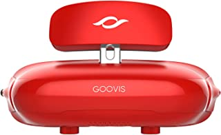 GOOVIS Cinego G2 Cinema VR Headset 3D Theater Goggles,4K Blu-ray Player with Sony OLED 1920x1080x2,HD Giant Screen Display Compatible with Set-top Box, PS4,Xbox,Drone, PC Smart Phone (Red)