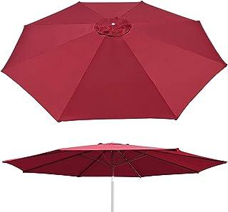 BenefitUSA UC-12 Canopy 10ft 8 Rib Patio Replacement Top Outdoor (Burgendy) Umbrella Cover