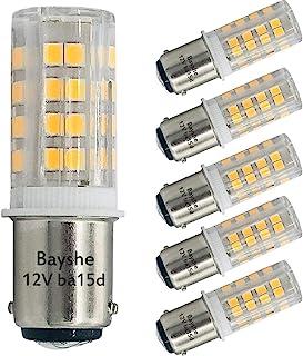 Bayshe 12V BA15D DC Bayonet Double Contact Base LED Bulb 3W 300Lm AC10-18Volt & DC10-30 Volts Light,30watt Halogen Equival...