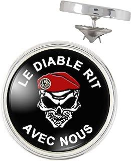 Badge 25mm Parachutistes Tap B/éret Rouge Le Diable Rit avec Nous Pins Bouton Epinglette