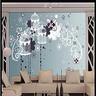 KAHSFA Fondo de pantalla 3D papel tapiz personalizado murales de pared estilo europeo jaula de pájaros TV fondo papel tapi...