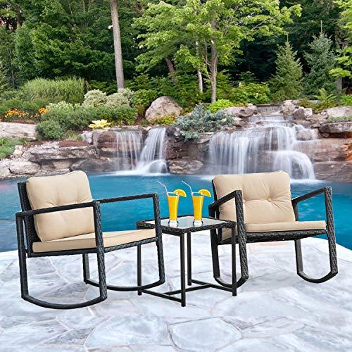 FDW Wicker Patio Furniture Set