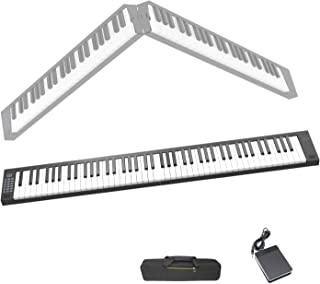 Veetop 88 Keys Foldable Electric Piano Keyboard Portable Dig