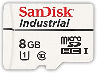 SanDisk Industrial 8GB Micro SD Memory Card Class 10 UHS-I MicroSDHC (Single Pack) in Case (SDSDQAF3-008G-I) Bundle with (...