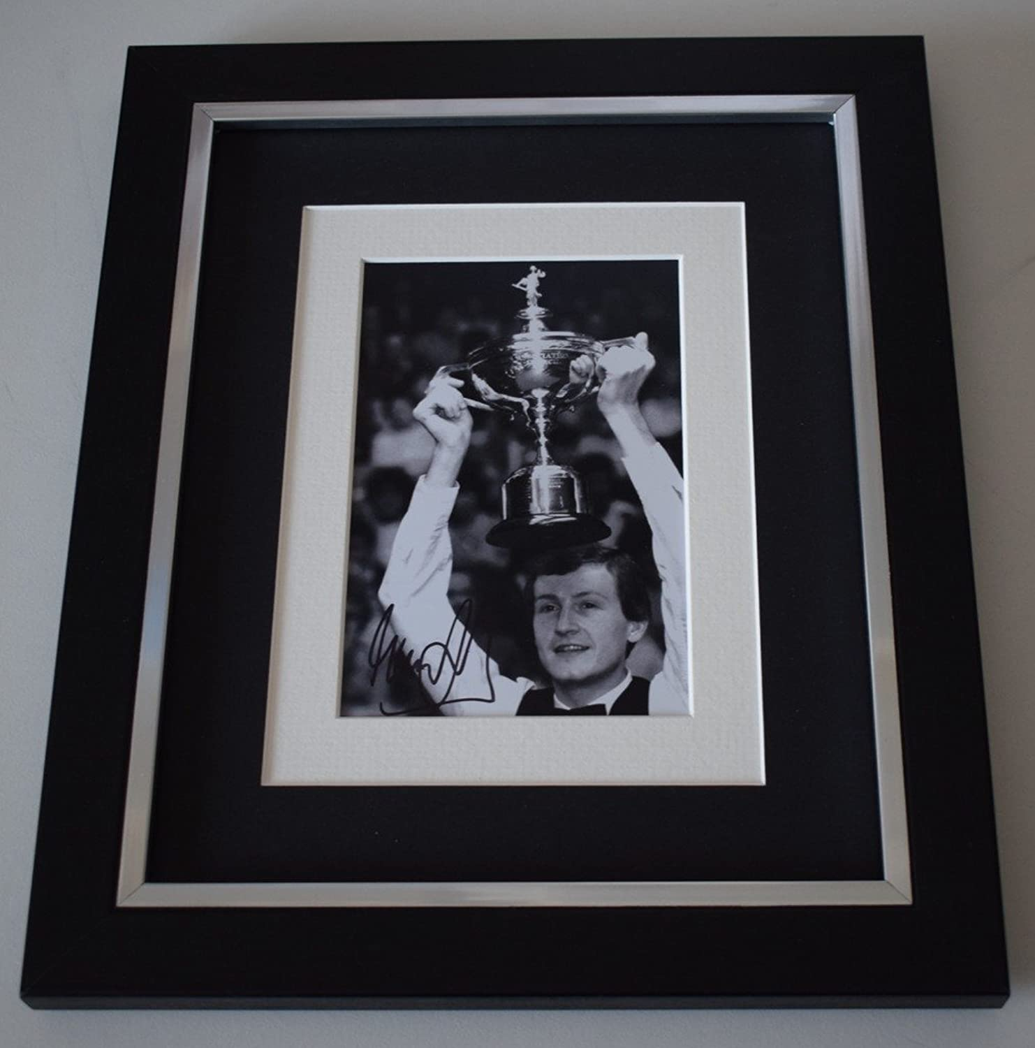 Sportagraphs Steve Davis SIGNED 10x8 FRAMED Photo Autograph Display Snooker AFTAL & COA PERFECT GIFT