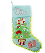 The Christmas Cart Personalised Gifts & Keepsakes Personalised Pom Pom Beach Tree Christmas Stocking, Christmas Décor to D...