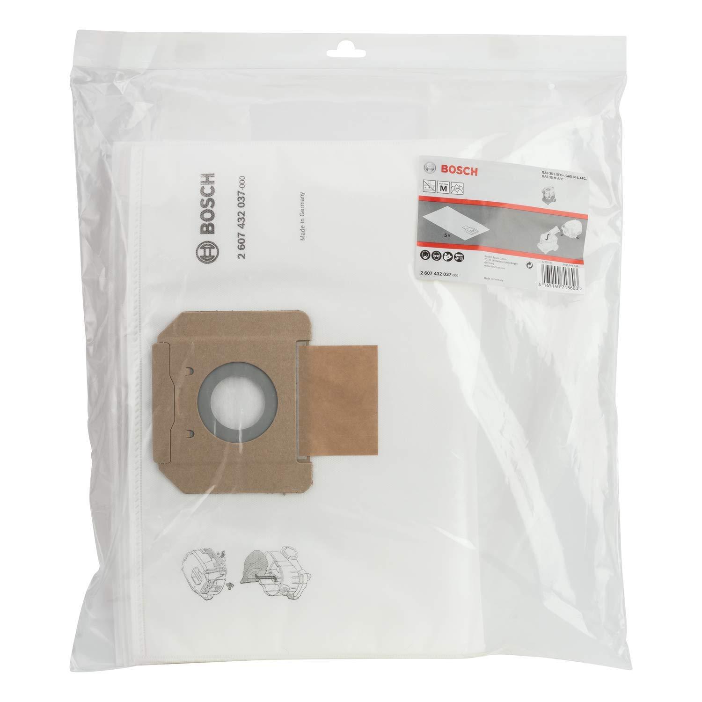 Bosch Professional Bolsas de Vellón para Aspiradora, para Gas 35, en Bolsa de Plástico, Set de 5 Piezas, Blanco: Amazon.es: Bricolaje y herramientas