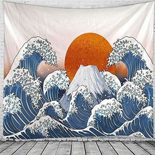 JXWR Luna Tapiz de Mandala Indio Montaje en Pared Boho Decorativo Encaje Hippie brujería Tapiz 150x130