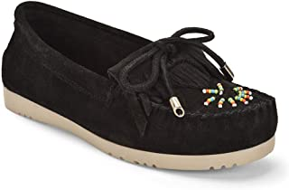 Five Tribe Women's Classic Suede Moccasin Loafer