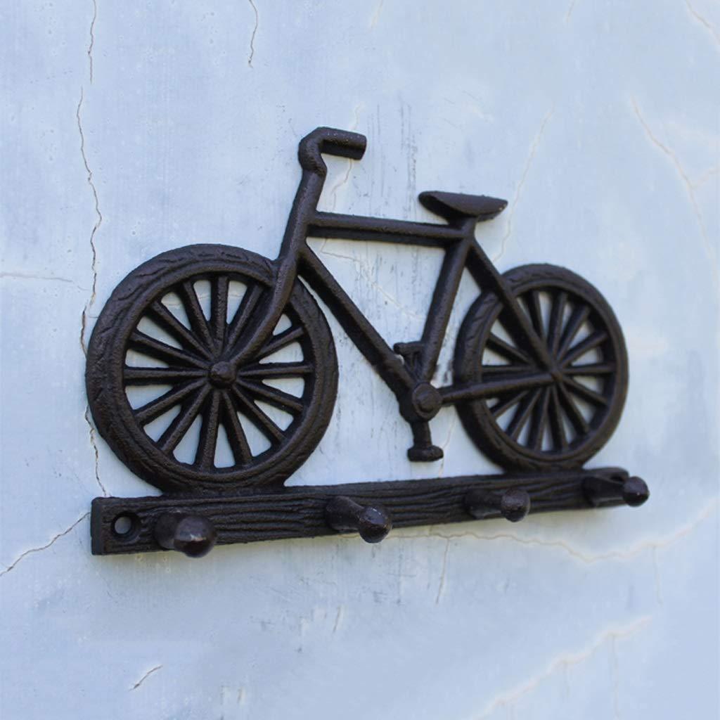 KTYXGKL Gancho para Bicicleta De Hierro Forjado Europeo Y Americano Montado En La Pared Perchero: Amazon.es: Hogar