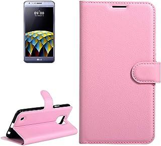 Telefonväska -För LG X Cam Litchi Texture Horisontell Sky Läderfodral med hållare & kort Slots & Wallet (Black) Telefon (C...
