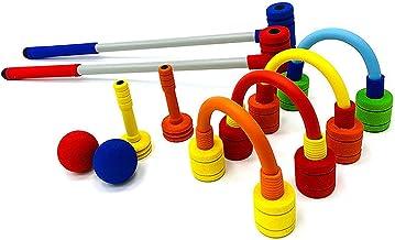 FOREVIVE Children's Croquet Set Elastic Sponge Double Croquet Set Indoor and Outdoor..