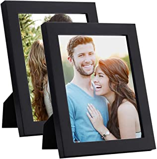 Art Street Synthetic Wood Table Photo Frame (4 x 6 inch, Black)