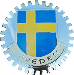 Classic Auto Spares B1141 Swedish Flag (Sweden) Car Grille Badge