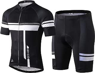 INBIKE Men's Cycling Jersey Set Bib Short Sleeve Bike Shirt with 3D Padded