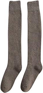 Sylar, Calcetines Altos Rodilla Mujer Invierno Calcetines de Algodón Invierno para Mujer Calcetines Largos Del Fútbol Color Sólido Calcetines Largos Sobre La Rodilla Muslo