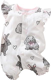 Generisch Baby Mädchen Body Ärmellos/Kurzarm Rüschen Neugeborene Strampler Rüschen Bodysuit Taufe Onesie Bunte Kleidung Sommer Outfit