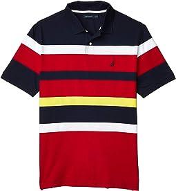 Big & Tall Short Sleeve Yarn-Dye Jersey Polo